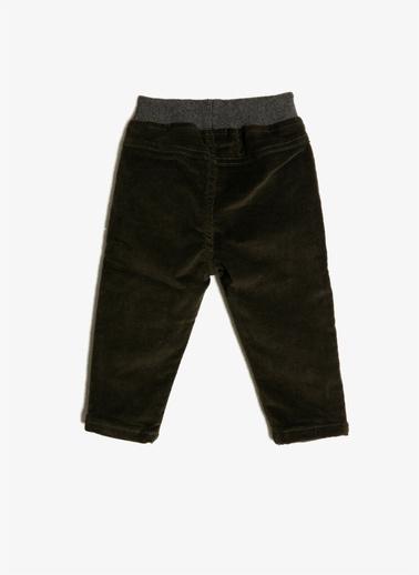 Koton Kids Beli Bağlamalı Pantolon Yeşil